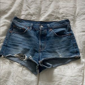 Levi's dark blue jean shorts